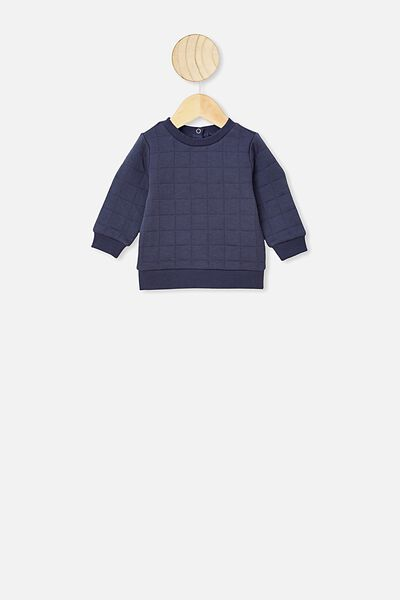 Scout Quilted Sweater, VINTAGE NAVY