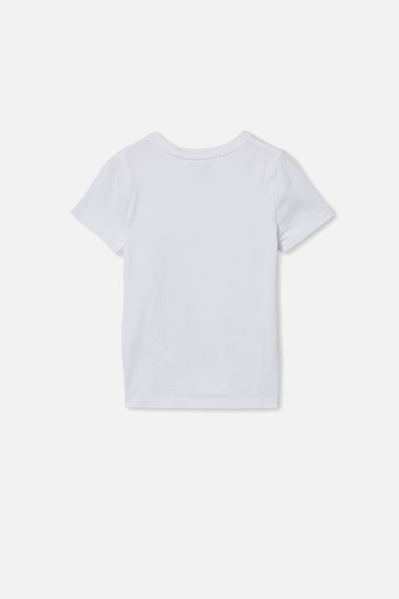 License Short Sleeve Tee, LCN DIS WHITE/CINDERELLA SPARKLE