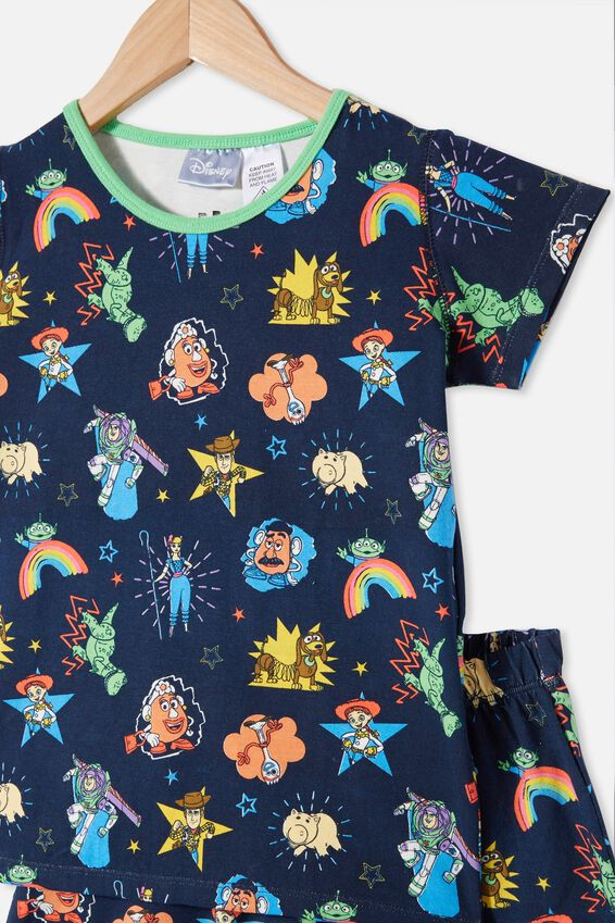 Hudson Short Sleeve Pyjama Set, LCN DIS TOY STORY 4 NAVY BLAZER
