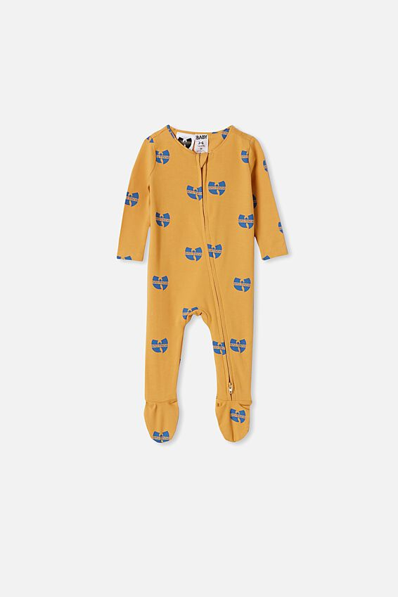 The Snug Long Sleeve Zip Romper, LCN LN VINTAGE HONEY WUTANG