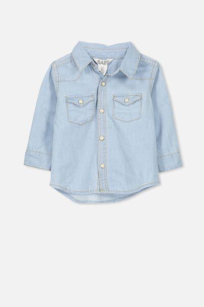 Zac Long Sleeve Shirt, LT CHAMBRAY