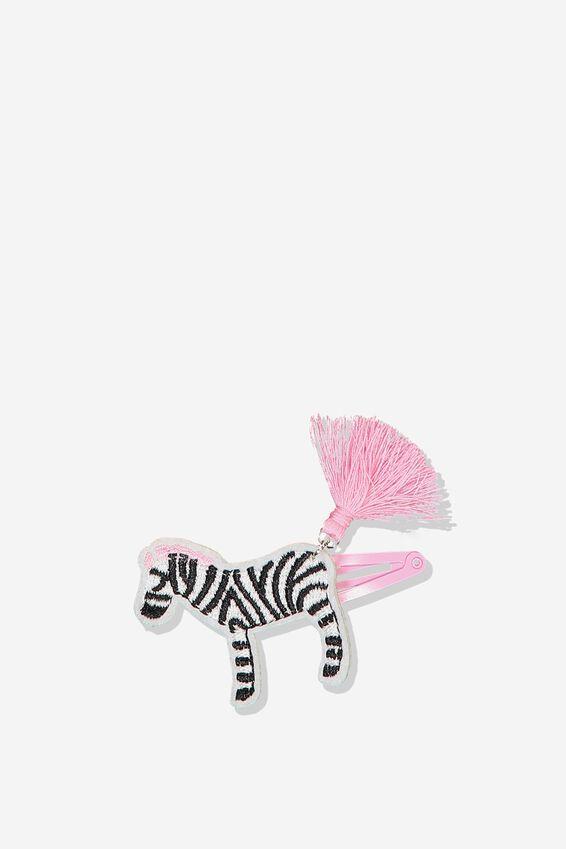 Party Hairclips, ZEBRA