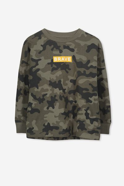86b401780adb Tom Loose Fit Tee, CAMO YARDAGE/BRAVE. Cotton On Kids