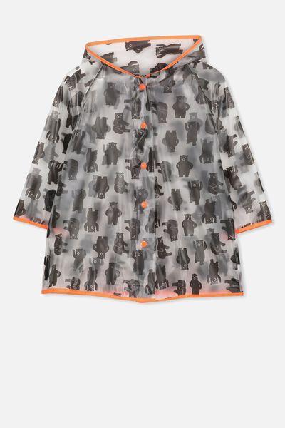 Cloudburst Raincoat, GREY BEAR