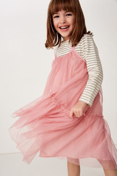 Iggy Dress Up Dress, DUSTY ROSE/SPARKLE DOT