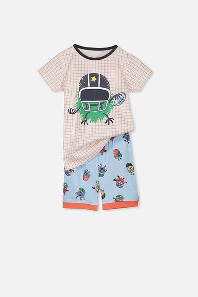 Joshua Short Sleeve Pyjama Set, MONSTER GAME
