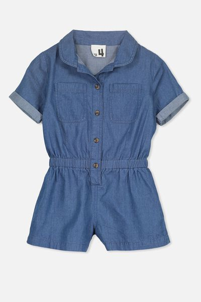 Bonnie Playsuit, CHAMBRAY