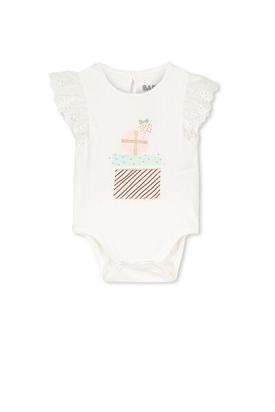 Mini Flutter Bubbysuit, VANILLA/PRESENT STACK
