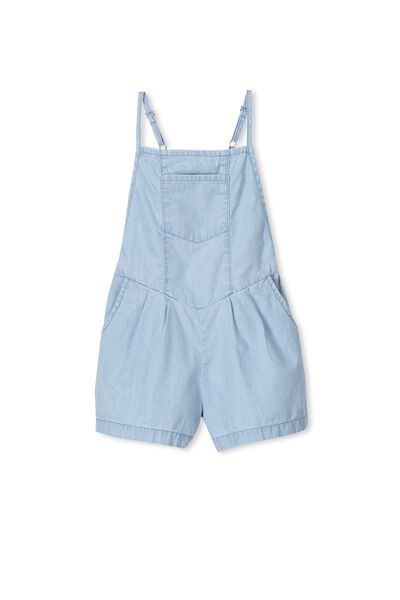 Demi Short Jumpsuit, BLEACH WASH