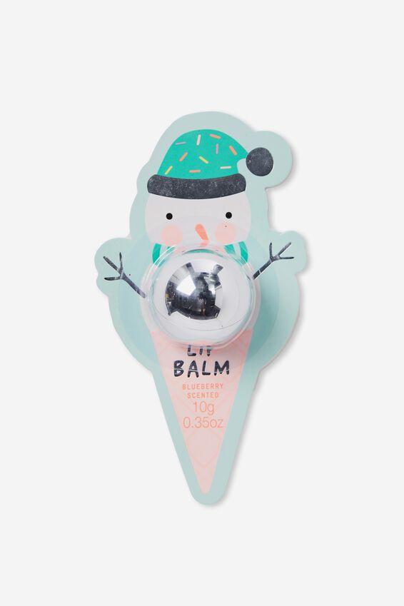 Lip Balm Novelty, BLUEBERRY SILVERY DOME