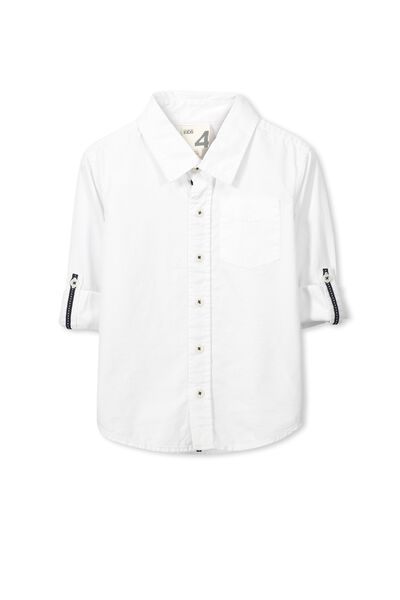 Noah Long Sleeve Shirt, FESTIVAL WHITE