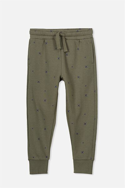 Lewis Trackpant, CLIVE GREEN/CROSSES