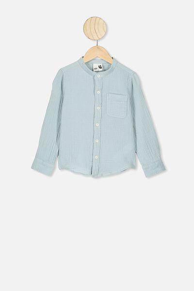 Grandpa Collar Prep Shirt, ETHER