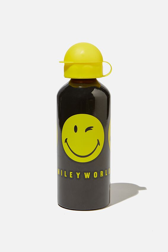 Aluminium Drink Bottle, LCN THE ORIGINAL SMILEY