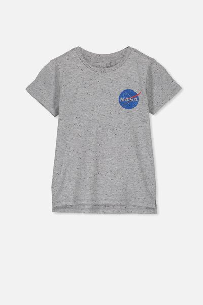 Short Sleeve License1 Tee, LCN GREY NEP/NASA