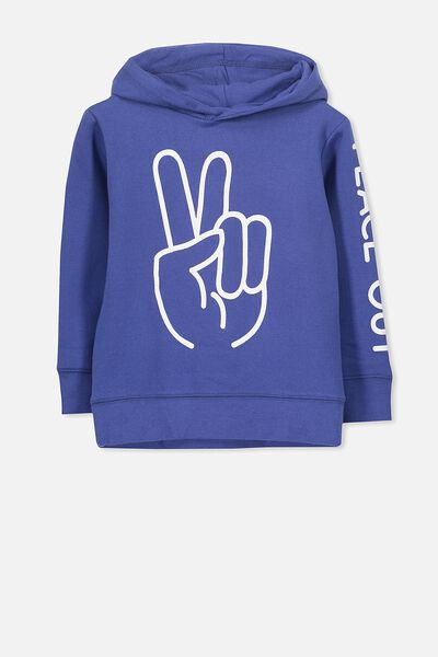 Liam Hoodie, INK BLUE/PEACE OUT