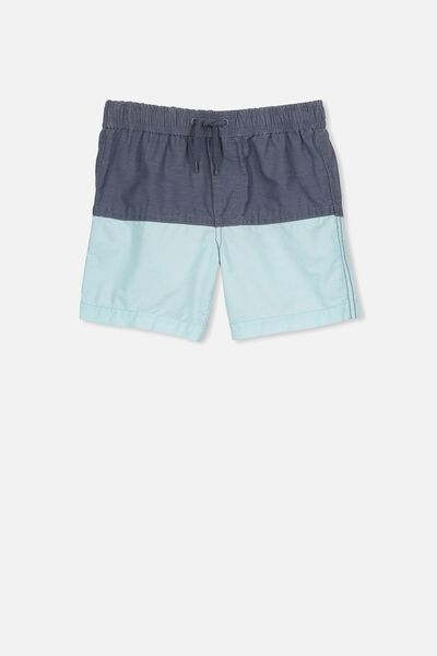 f0496b1e35 Murphy Swim Short, VINTAGE NAVY/ POOL BLUE SPLICE. Cotton On Kids
