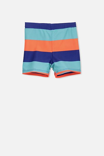 Billy Boyleg Swim Trunk, MIXED STRIPE MULTI
