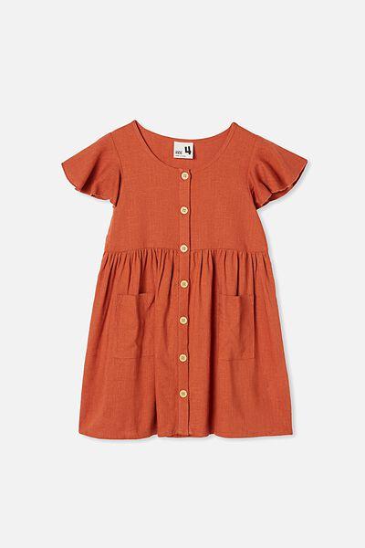 Vanessa Short Sleeve Dress, ROASTED ALMOND