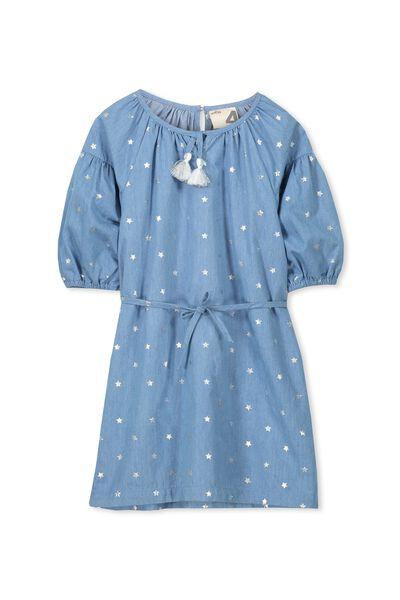 Ava Dress, LIGHT BLUE/STARS