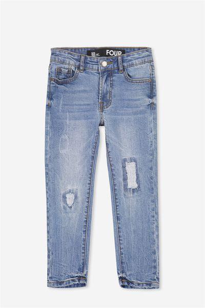 Jagger Slim Leg Jean, ABRAISED BLUE