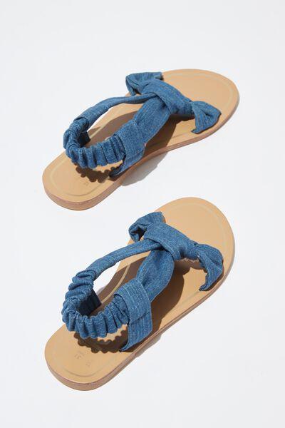 Knot Sandal, DENIM