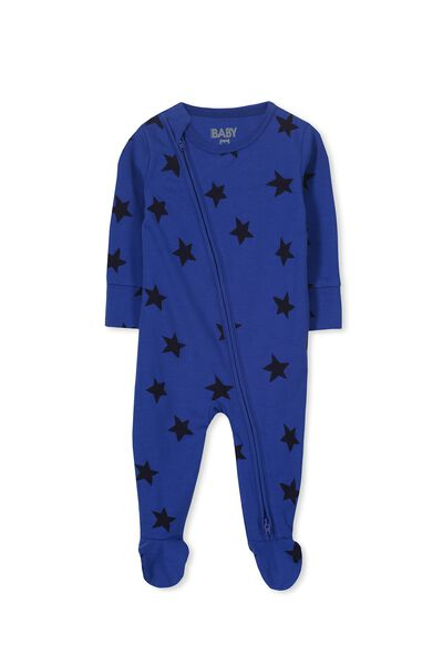 Sleep Mini Zip All In One Jumpsuit, SURF THE WEB/STARS