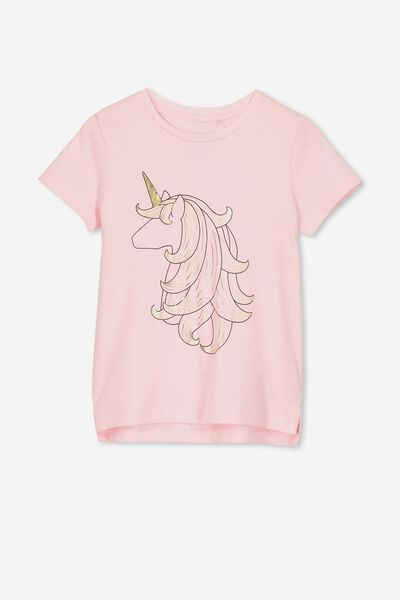 Penelope Short Sleeve Tee, BLUSH/UNICORN HAIR/MAX