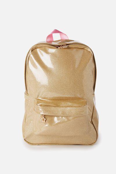 Fashion Backpack, GOLD GLITTER