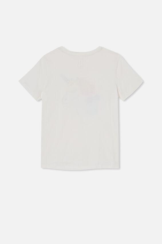Stevie Short Sleeve Embellished Tee, VANILLA/ FLORAL MANE