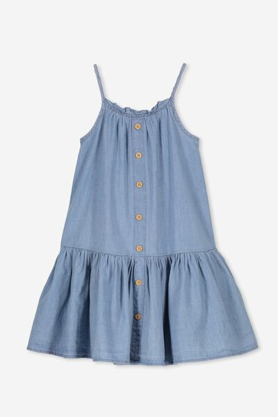 Lettie Dress, LIGHT WASH
