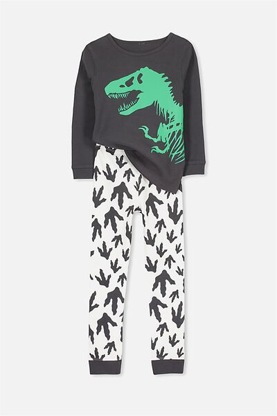 Harry Long Sleeve Boys PJ Set, JURASSIC PARK