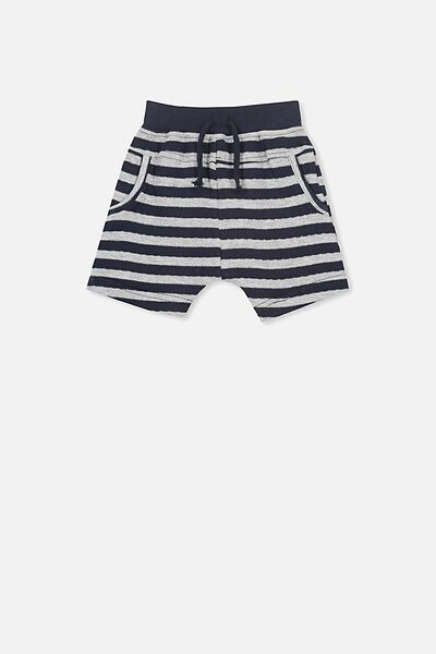 George Short, GREY/NAVY STRIPE