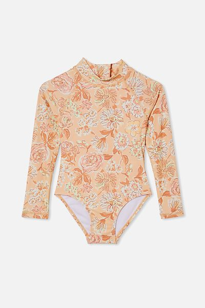 Lydia One Piece, PEACHY/PAINTERLY FLORAL
