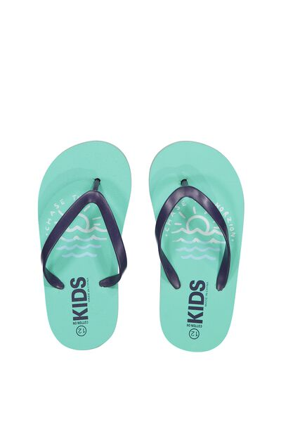 Printed Flip Flop, B CHASE THE HORIZON