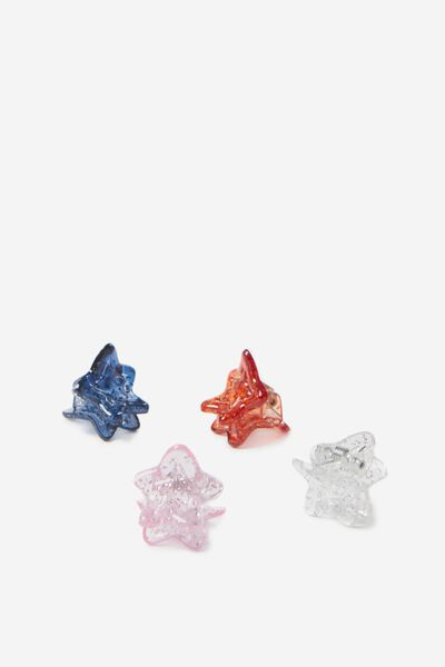 Mini Claw Clips, STARS/MULTI SPARKLE