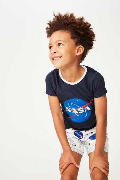 Peter Boys Short Sleeve PJ Set, LCN NAS/NASA BLAST OFF