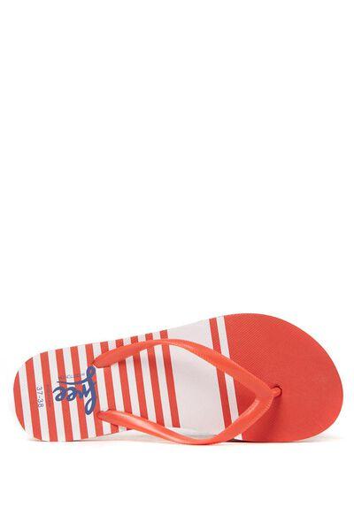 Free Flip Flops, RED SPLICE STRIPE