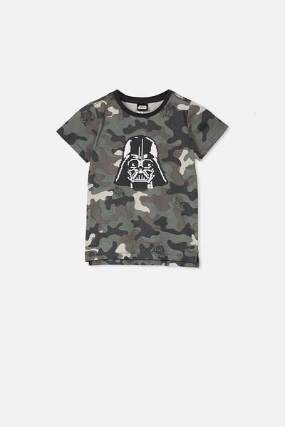 Short Sleeve License1 Tee, LCN LU STAR WARS CAMO/DARTH STACK