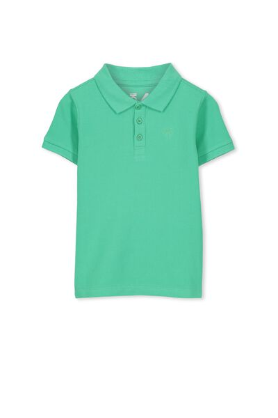 Kenny3 Polo, CLOVER GREEN/PLAIN EMB