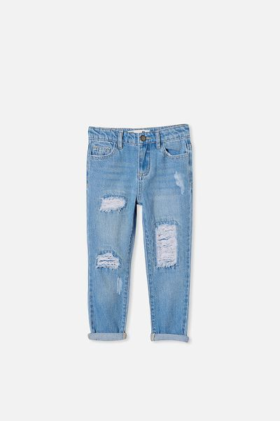 India Slouch Jean, WEEKEND WASH/RIPS