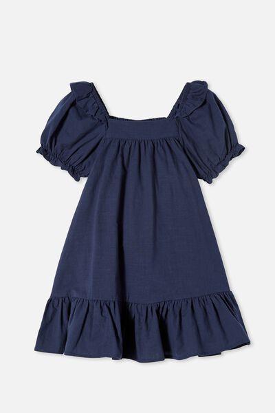 Aimee Short Sleeve Dress, INDIGO