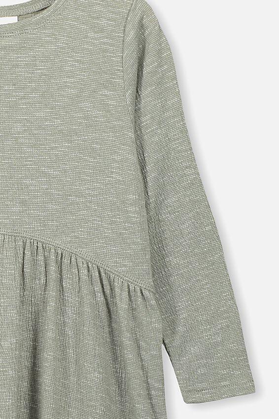 Freya Long Sleeve Dress, SILVER SAGE/TEXTURE