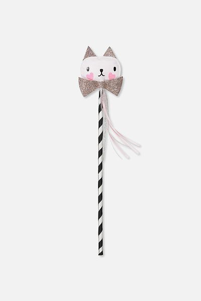 Shooting Stars Wand, SILVERY GLITTER CAT