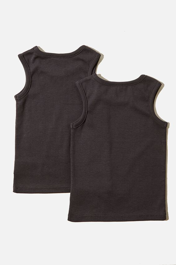 2 Pack Singlets, INDIAN INK