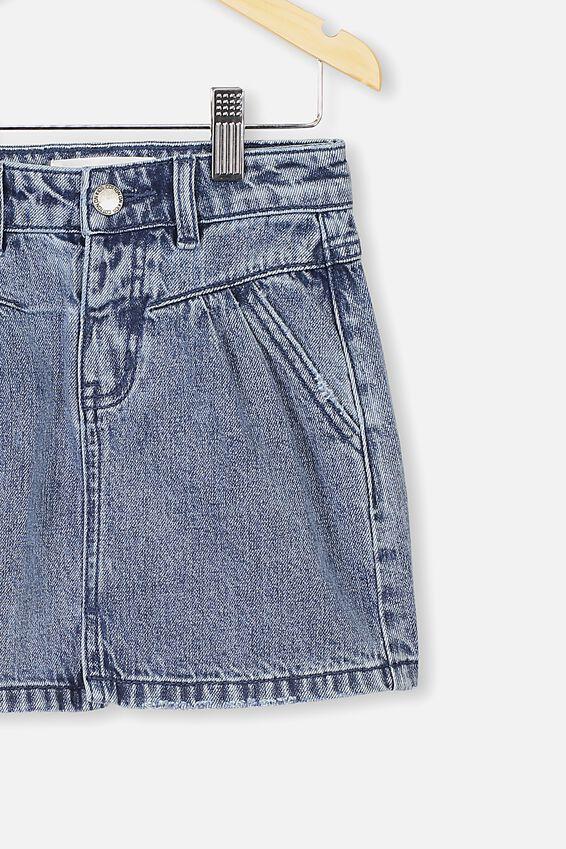 Kirstie Denim Yoke Skirt, RETRO BLUE WASH