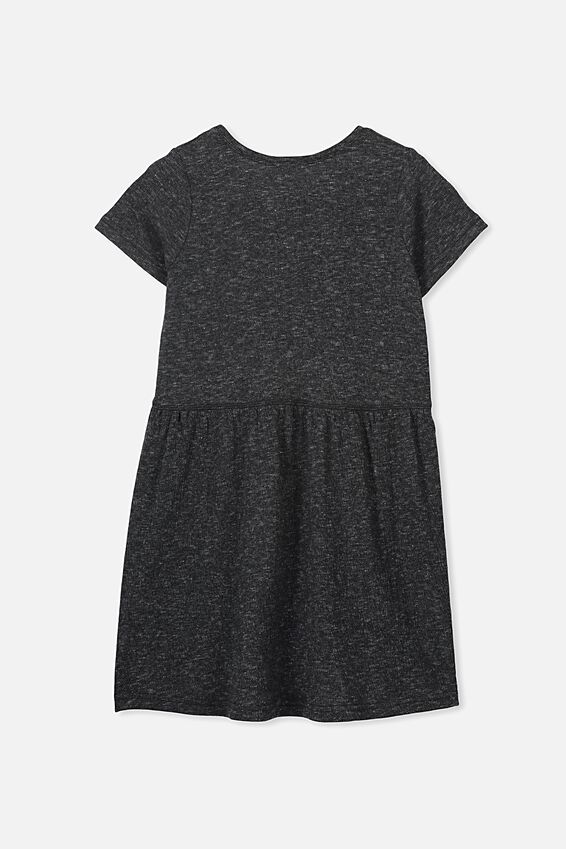 Freya Short Sleeve Dress, PHANTOM/TEXTURE