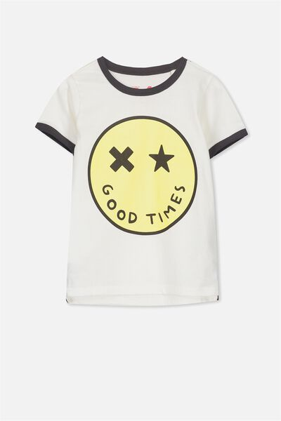 Max Short Sleeve Tee, VANILLA/GOOD TIMES
