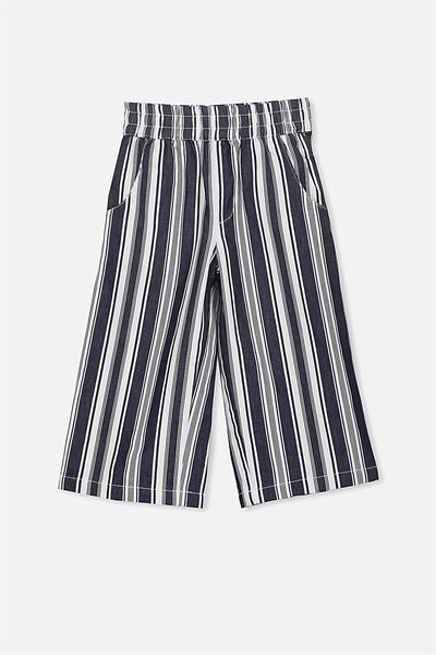 Isla Wide Leg Crop Pant, PEACOAT/VANILLA STRIPE