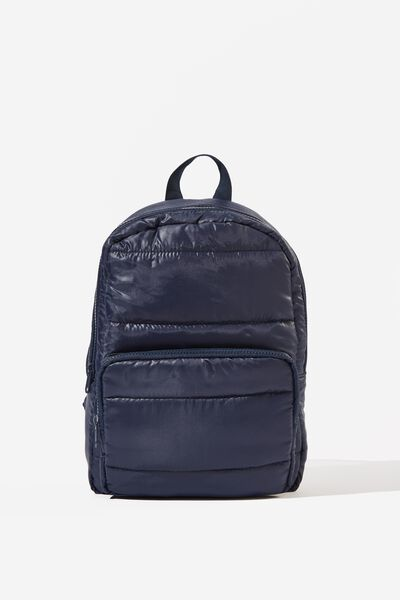 Puffer Backpack, NAVY